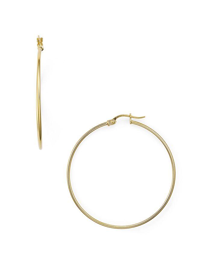19330ba5f Aqua Medium Hoop Earrings In 18k Gold Plated Sterling Silver 100