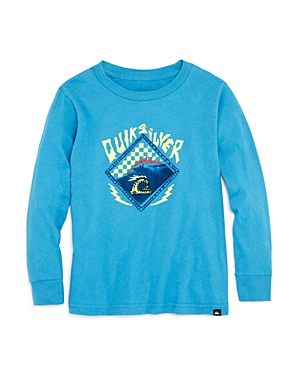 Quiksilver Boys' Check Logo Long-Sleeve Graphic Tee - Little Kid