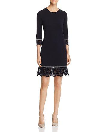 Tory Burch Lace Trim Merino Wool Sweater Dress Bloomingdales