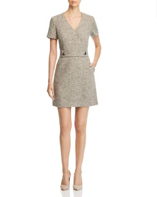 Priscilla Short Sleeve Tweed Dress by Tory Burch