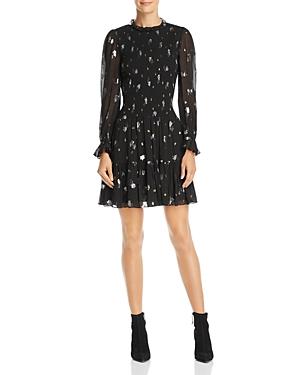 Rebecca Taylor Dresses SMOCKED METALLIC-DETAIL DRESS