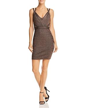 Guess Mirage Metallic Strappy Body-Con Dress