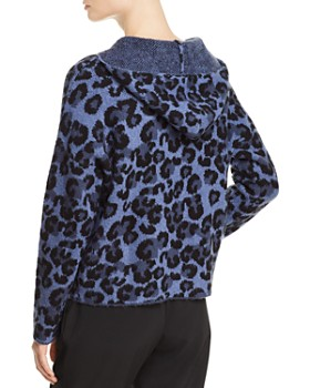 AQUA - Leopard Print Hooded Sweater - 100% Exclusive