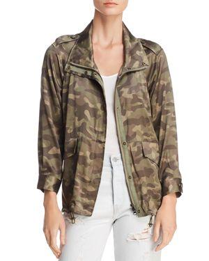 Cami Nyc Quinn Silk Camouflage Jacket