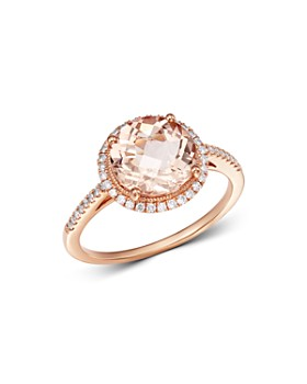 Meira T - 14K Rose Gold Morganite & Diamond Ring