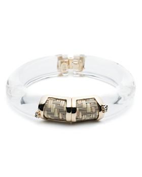 Alexis Bittar - Petite Raffia-Detail Lucite Hinge Bracelet