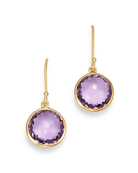 IPPOLITA - 18K Yellow Gold Lollipop Amethyst Mini Drop Earrings