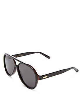 Gucci - Men's Flat Top Aviator Sunglasses, 57mm