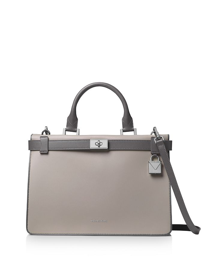 1cce1490d119 MICHAEL Michael Kors Tatiana Medium Leather Satchel | Bloomingdale's