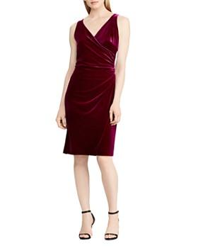 Ralph Lauren Velvet Faux Wrap Dress 100 Exclusive