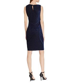 Ralph Lauren - Shadow-Stripe Velvet Dress