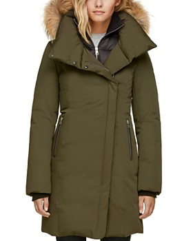 Soia & Kyo - Fur Trim Asymmetric Front Down Coat - 100% Exclusive