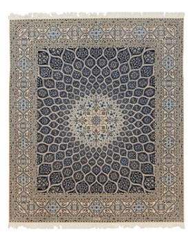 """Solo Rugs - Nain Leia Hand-Knotted Square Rug, 8'7"""" x 10'2"""""""