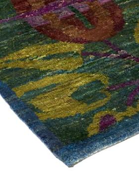"Solo Rugs - Sari Silk Stuttgart Hand-Knotted Area Rug, 7' 10"" x 10' 4"""