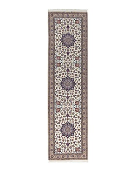 """Solo Rugs - Isfahan Mason Hand-Knotted Runner Rug, 2'6"""" x 9'10"""""""