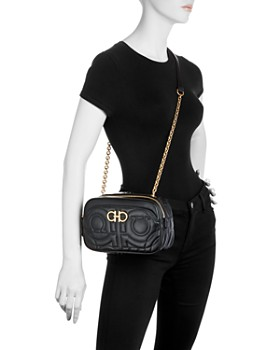 Salvatore Ferragamo - Gancini-Quilted Small Leather Shoulder Bag