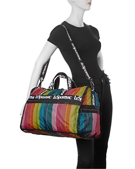 LeSportsac - Candace Weekender Rainbow Stripe Duffel Bag
