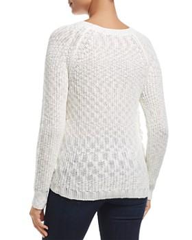 Heather B - Frayed Shaker Stitch Sweater