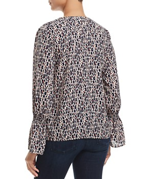 Finn & Grace - Smocked Leopard Print Top - 100% Exclusive