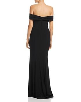 AQUA - Asymmetric Off-the-Shoulder Gown - 100% Exclusive