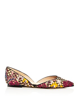 Sam Edelman - Women's Rodney Floral-Embroidered d'Orsay Flats