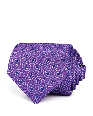 Turnbull & Asser Tossed Paisley Pines Silk Classic Tie