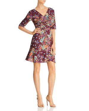 Wayf Gabby Ruched Floral Print Dress - 100% Exclusive