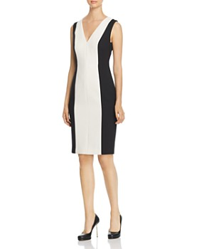 PAULE KA - Color-Blocked Sheath Dress