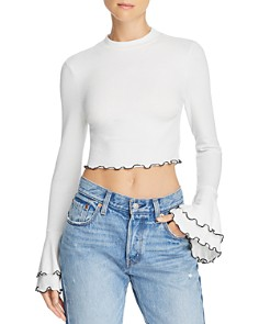 Lost and Wander - Austin Bell-Sleeve Cropped Top