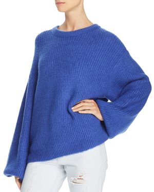 LOST AND WANDER Lost And Wander Nikkie Chunky-Rib Sweater in Cobalt Blue