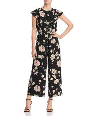 LOST AND WANDER Lost And Wander Floral-Print Jumpsuit in Black