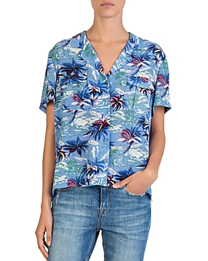 The Kooples Silk Hawaiian-Print Shirt