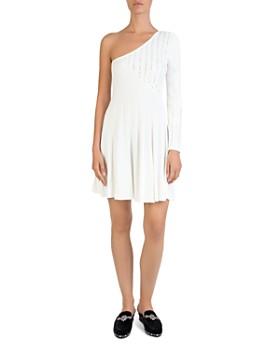 The Kooples - One-Shoulder Studded Knit Dress