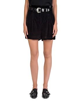 The Kooples - Velvet Paperbag-Waist Shorts