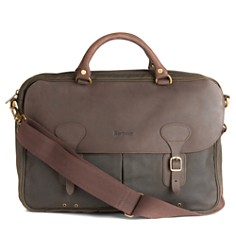 Barbour Waxed Cotton & Leather Briefcase - Bloomingdale's_0