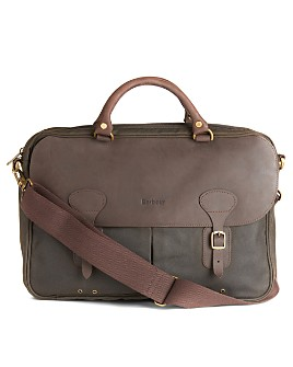 Barbour - Waxed Cotton & Leather Briefcase