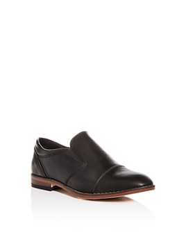 STEVE MADDEN - Boys' BSerge Leather Cap-Toe Loafers - Little Kid, Big Kid