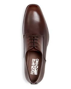 Salvatore Ferragamo - Men's Daniel Everton Leather Plain Toe Oxfords