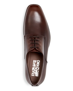 Salvatore Ferragamo - Men's Daniel Everton Leather Plain Toe Oxfords