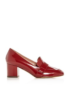 Tabitha Simmons - Women's Mika Leather Block-Heel Loafers