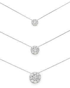 "Bloomingdale's Diamond Circle Pendant Necklace in 14K White Gold, 18"" - 100% Exclusive_0"