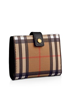 Burberry - Vintage Check Small Leather Folding Wallet