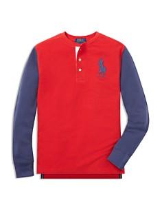 Polo Ralph Lauren Boys' Mesh Henley Knit Top - Big Kid - Bloomingdale's_0