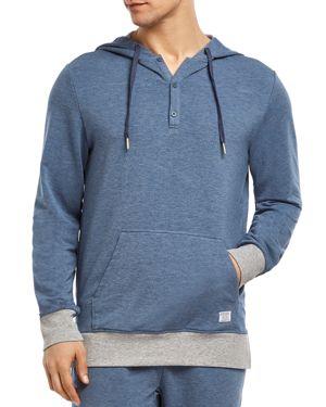 2(X)IST 2(X)Ist Modern Essential Hooded Sweatshirt in Denim Heather