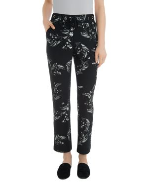 LYSSÉ Blair Floral Straight Pants in Black Floral