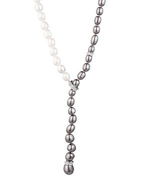 Carolee Adjustable Cultured Freshwater Pearl Lariat Necklace, 28