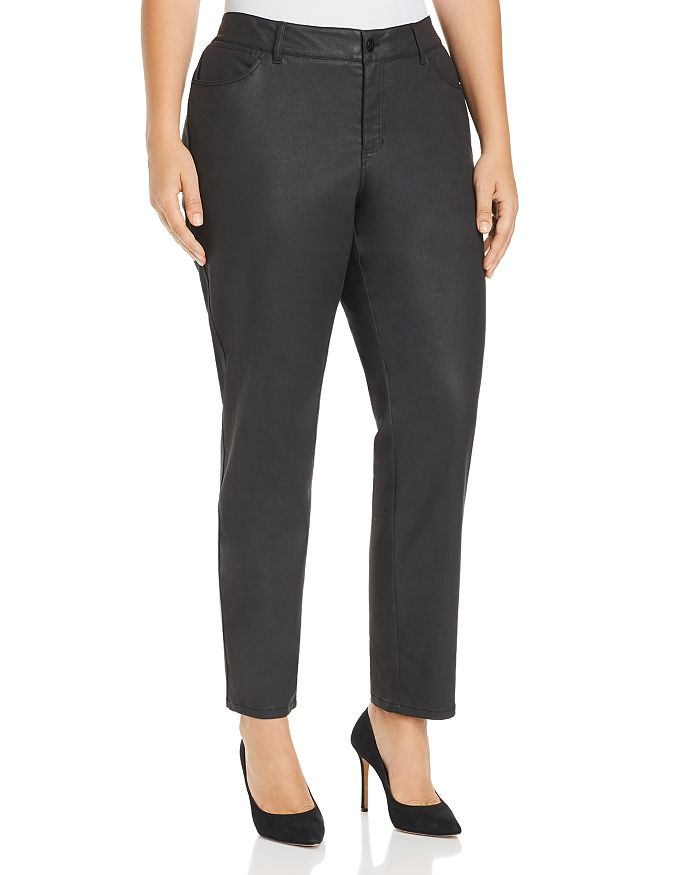 Lafayette 148 New York Plus - Mercer Coated Jeans in Black