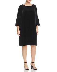 Lafayette 148 New York Plus - Roslin Velvet Bell-Sleeve Dress