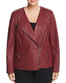 Lafayette 148 New York Plus - Trista Leather Moto Jacket