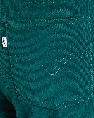 Levi S Wedgie Straight Corduroy Jeans In Evergreen Bloomingdale S